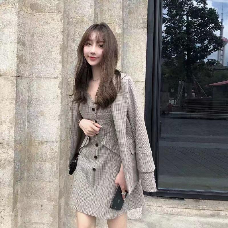 HsU1O 2019 Yeni erken elbise etek ve sonbahar erken elbise etek zayıflama mizaç sonbahar moda ve iki parçalı küçük maçı zayıflama
