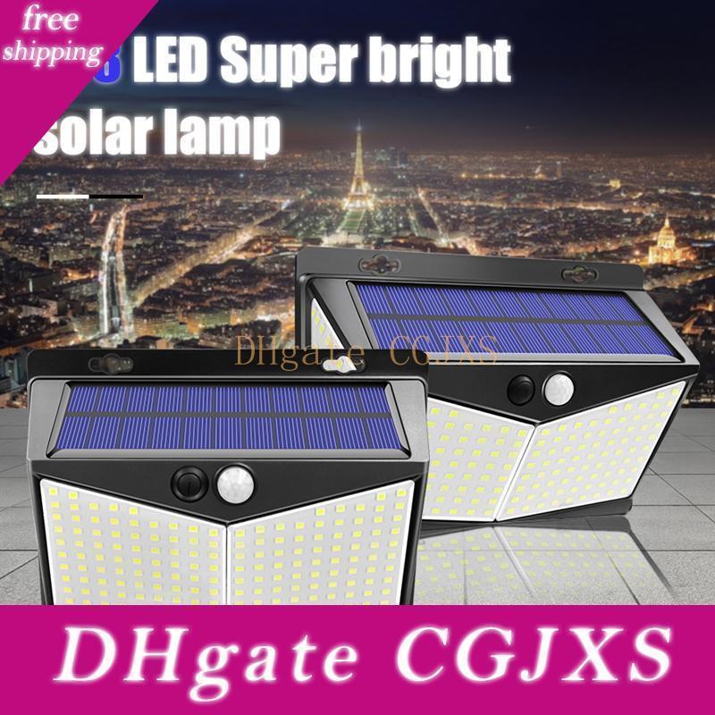 Edison2011 Lampe solaire 208 Led capteur mouvement lampe extérieur étanche IP65 Lampes de jardin solaire de sécurité d'urgence Lumière solaire Lampe de mur