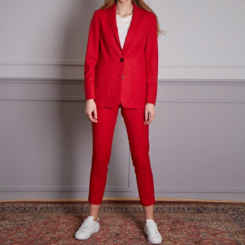 damas juego de las mujeres pierden traje traje de dos piezas ocasional (chaqueta + pantalones) oficina formal de desgaste profesional personalizada de las mujeres