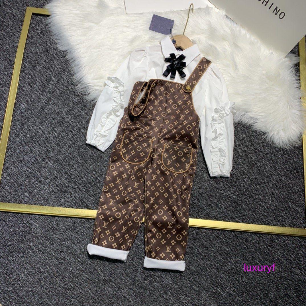 filles vêtements d'automne imprimé mode casual manches longues ensemble de tendance de haute qualité