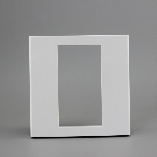 가전 제품 86 종류 광택 패널 벽 콘센트 3 슬롯 소켓 23x36mm 빈 벽 페이스 플레이트를 위해 설치된 빈