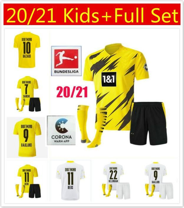 2020 Borussia 2020 2021 Adult Men Kids Dortmund Haaland Soccer Jerseys Kit 20 21 Hazard Gotze Reus Witsel Paco Alcacer Third Set Football Shirt From Zx1119 11 19 Dhgate Com