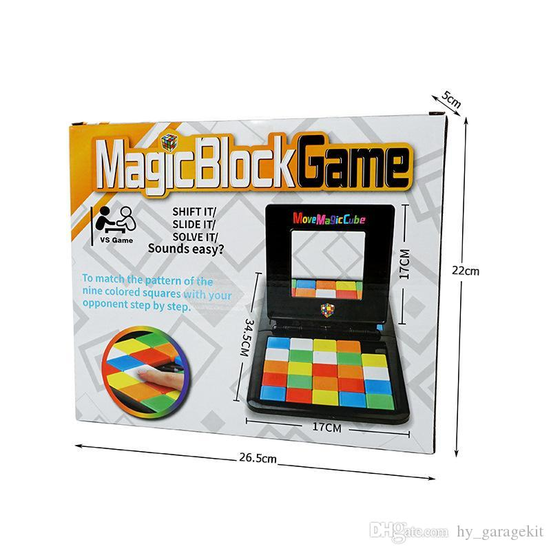 Novel and interesting puzzle game toy color mobile Rubik's Cube 2 vs puzzle fun puzzle interactive toys for boys and girls