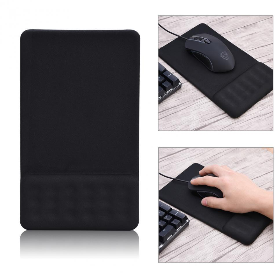 Cgjxs Cgjxs Anti -Slip Silicone Gaming Mouse Pad Mat With Soft Gel Wrist Rest Mouse Pad Black Universal For Computer Laptop Netbook