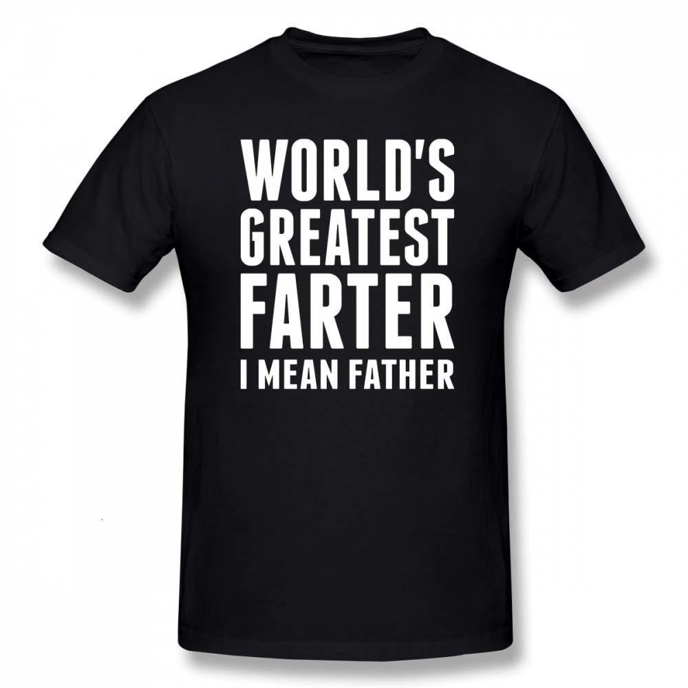 Midnite Yıldız İyi Baba Hiç T Gömlek Worlds Greatest Farter ben Mean Baba Tişört Harf Baskı Pamuk Tee Gömlek Grafik Tişörtlü