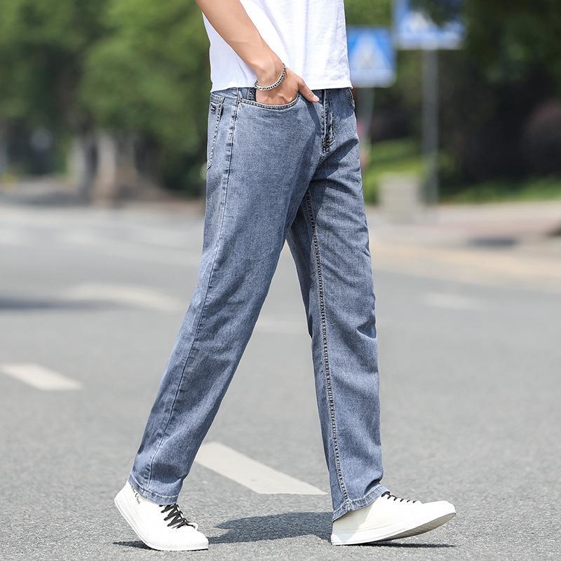 pantalon décontracté de printemps gris été mince de GiOCP été hommes Les pantalon droit et des hommes lâches 070B pantalon décontracté et des jeans jeans