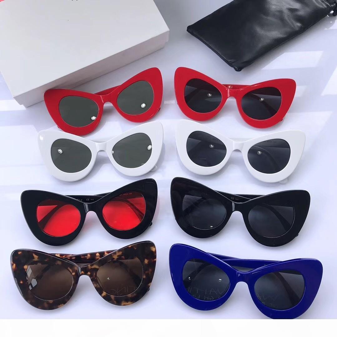 Neue Art und Weise 41068 Männer Sonnenbrille einfache Mens Sonnenbrille populären Frauen-Sonnenbrille im Freien im Sommer Schutz uv400 Großhandel Brillen mit Fall