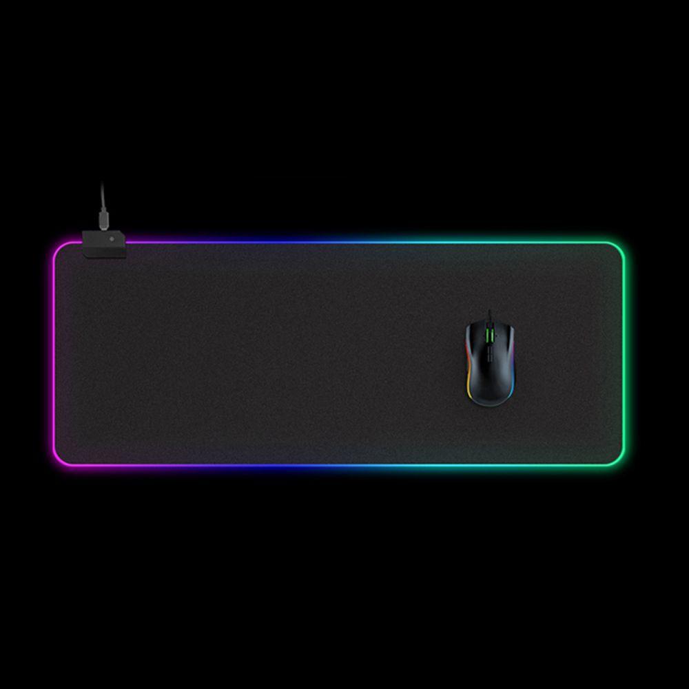 LEDs RGB Mouse Pad 14 Lighting Modos Gaming Extra Large prolongada e mole deslizamento Mousepad Não para computadores Gamer