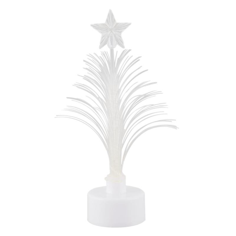 LED árbol de Navidad de brillante colorido de fibra óptica con una parte superior de la estrella de ventosa