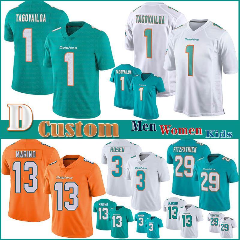 1 Tua Tagovailoa MiamidelfinesFútbol de Hombres Mujeres Niños jerseys 11 DeVante Parker 25 Xavien Howard 13 Dan Marino 34 Howard