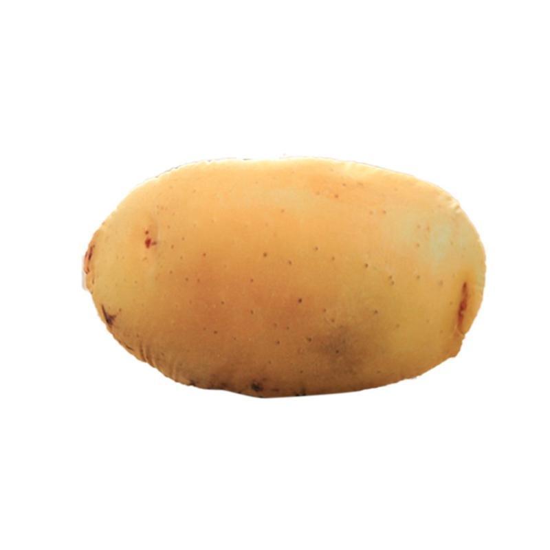 Simulation 3D Légumes pommes de terre oreiller en coton neutre PP velours Fruits Légumes en peluche Bureau Coussin Sofa Coussin 1 Piece