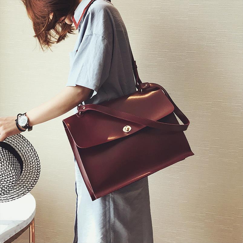 Moda Feminina Big Bag New Qualidade PU Womens Designer Handbag Senhoras Pasta Bolsa de ombro Messenger Bags