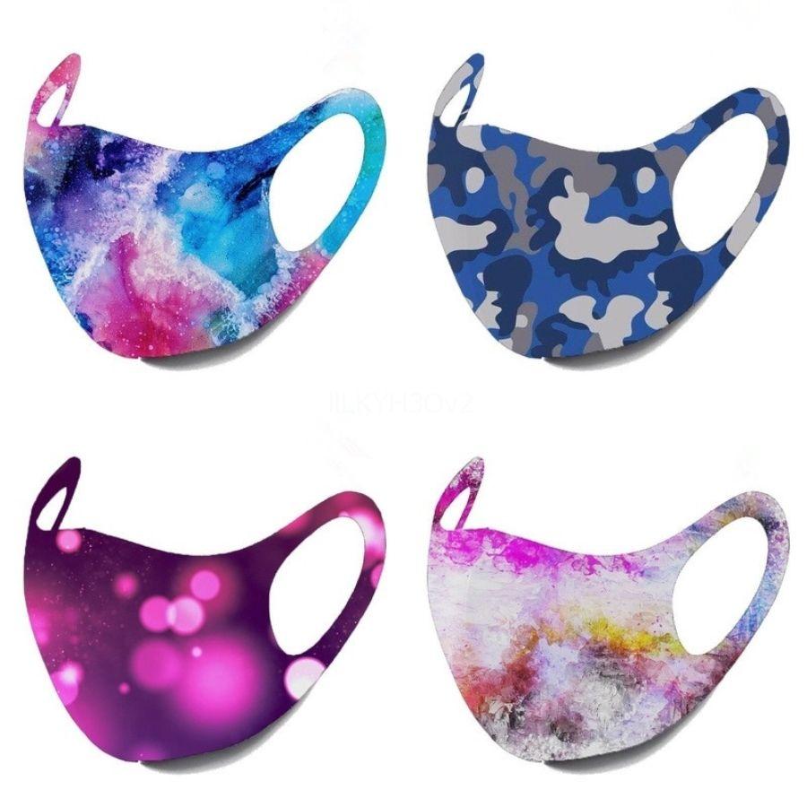Yetişkin Çiçek Facemask Safet Yıkanabilir Pamuk Facemask Yüz Maskswashable Ve Yeniden kullanılabilir Yüz Maskesi-Yıkanabilir Maske # 689 Protect yazdır