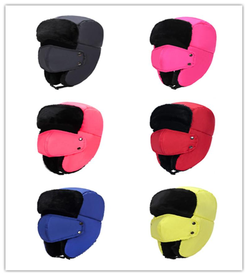 Winter warm earmuffs thickening and velvet hat man ms lei feng outdoor heat preservation cotton padded cap mask protect nose cap in the wint