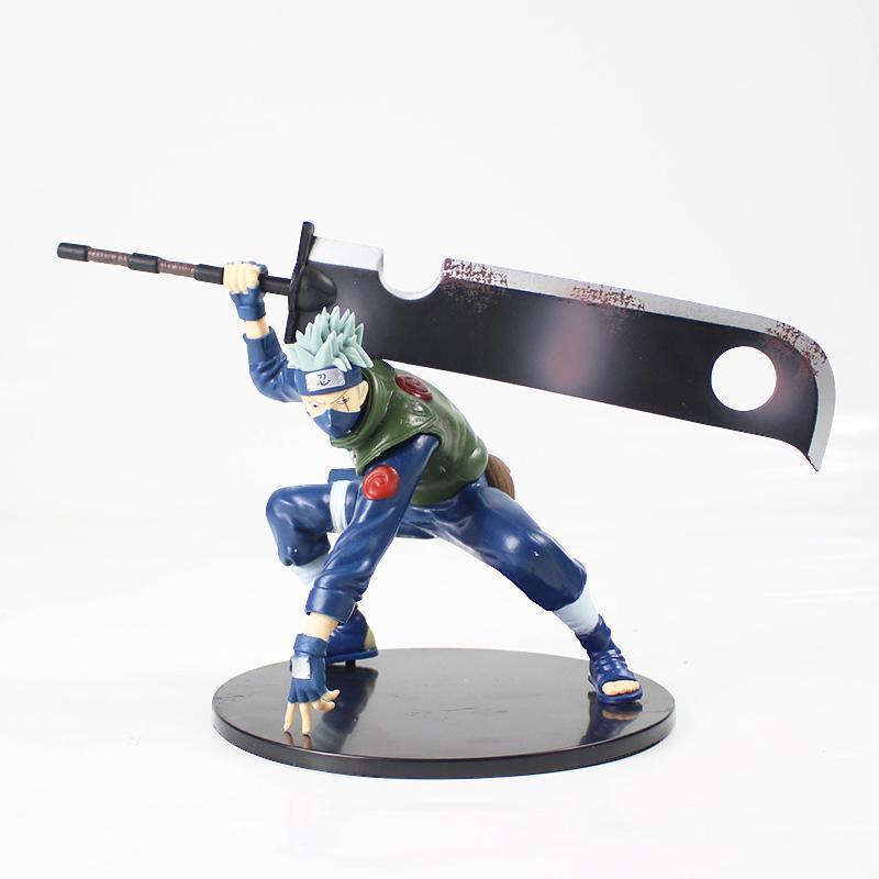 14см Naruto Shippuuden Хатаке Какаши Shinobi мировой войны с мечом Ver. ПВХ фигурку Коллекционная модель Игрушка Фигурка MX200811