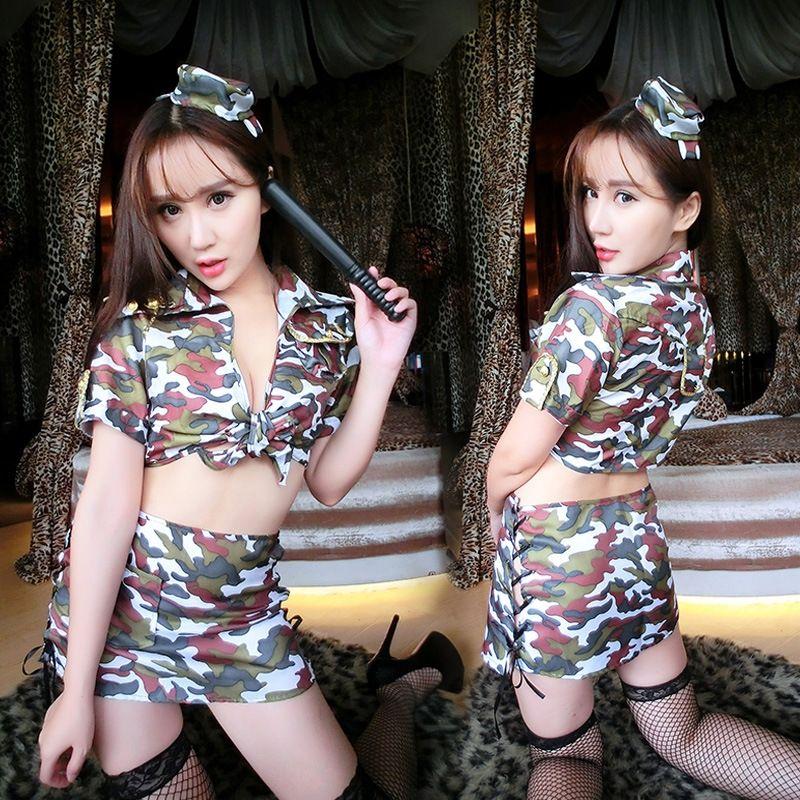 hgot2 cueca Nightclub sexy SIXDa jogo traje de Natal roupas Underwear vestuário uniforme policial Natal instrutor camuflagem w