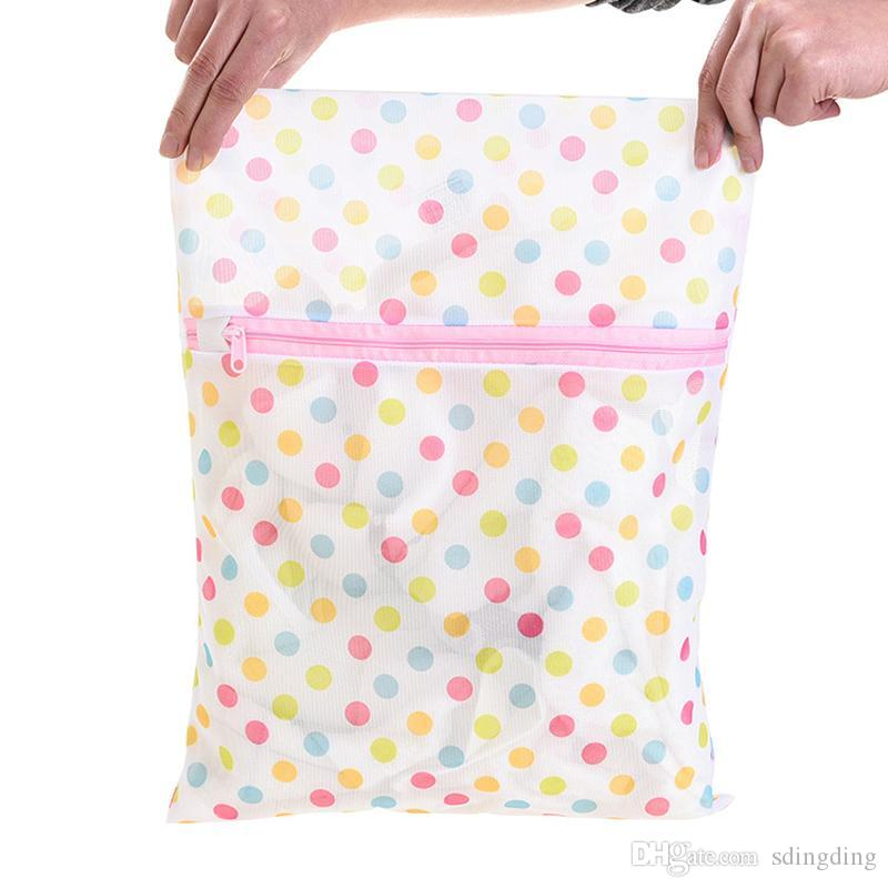 30*40CM Print Laundry Bag Clothes Washing Machine Laundry Bra Lingerie Mesh Net Wash Bag Pouch Basket Washing Care Laundry Bags DBC DH0962