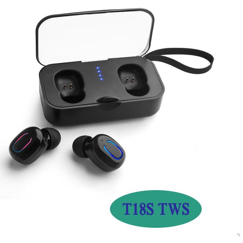 T18S TWS sans fil écouteurs Special Design Qualité Musique Oreillettes Bouton de commande Auto Pairing universel pour Samsung HUAWEI iPhone LG