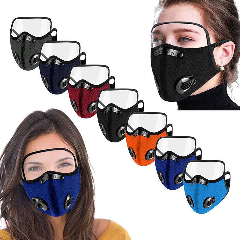 Máscara de la válvula a prueba de gotas MCBL Shield Style Envío al aire libre máscara al aire libre con la protección de la cara Ojo con gafas libres 7 Ciclismo DHF5 Dust- TOCF