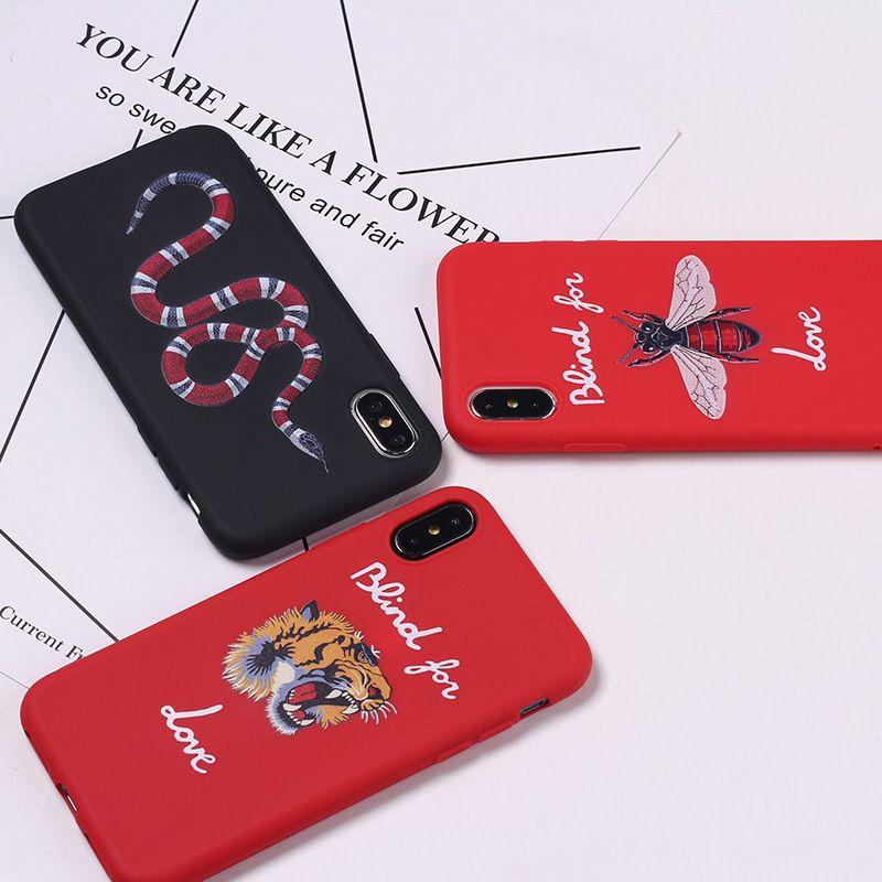 아이폰 SE 2020 (11) 프로 맥스 X XR XS (12) 미니에 대한 뱀 벌 호랑이 럭셔리 스타일의 부드러운 TPU 슬림 폰 케이스