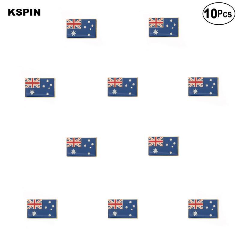 Avustralya Bayrağı Broş Yaka Pin Bayrak rozeti Broş iğneler bir Lot Rozetleri 10 Ad