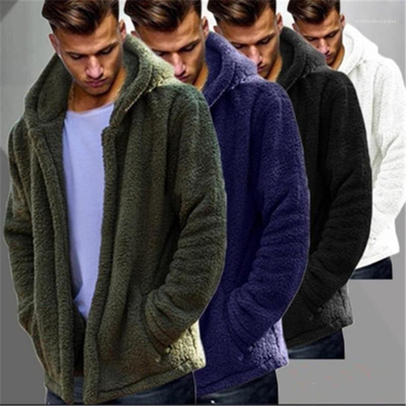 Ceketler Tasarımcı Hip Hop Şık Serin Artı boyutu Fermuar Kabanlar Erkekler Kış Isınma Palto Moda Trend Cep Kabarık Coat Fleece Kürk Kapşonlu