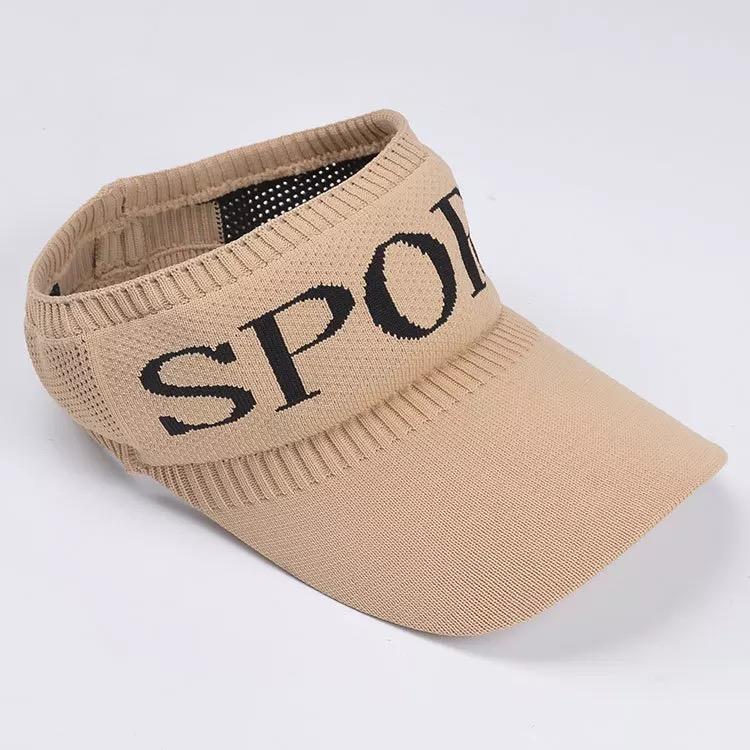 2020 nouveaux chapeaux haut vide à carreaux pour dames ombre soleil d'été et chapeau de soleil Voyage tricot chapeau bloc soleil chapeau de sport en plein air
