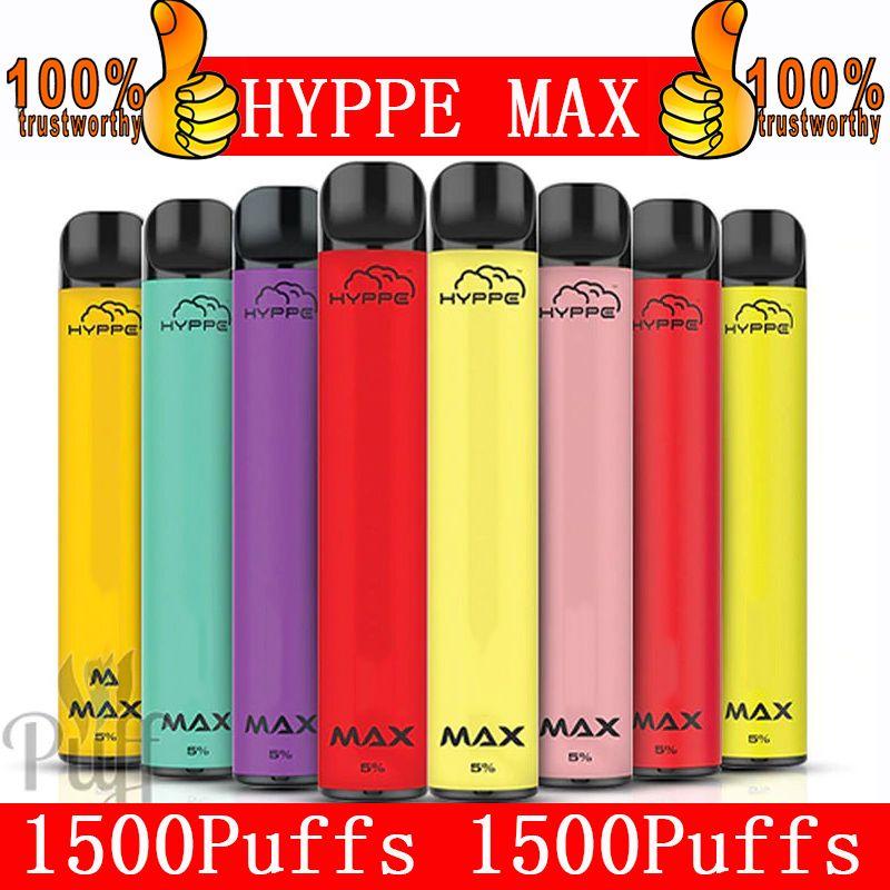 Ippe Max Monouso Penna Vai Pig Pods Dispositivo Hyppe Max 650mAh Batteria 1500 Pulvelli Pre-riempiti Pod Pod Kit monouso E Sigarette 9 Colori locali