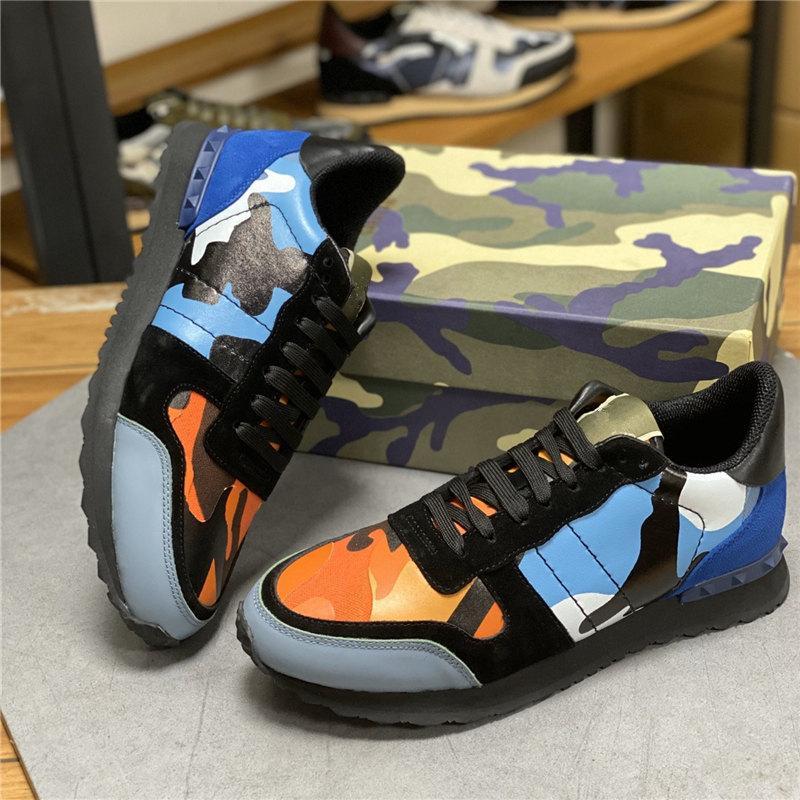 zapatos del diseñador zapatillas de deporte de los hombres zapatos Zapatos de baloncesto Correr Correr Caminar cola plástica de zapatos de cuero remache completa Calzado casual zapatillas de deporte