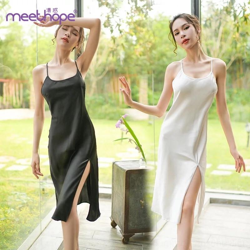 bOKVz романтичных женщины сексуальное нижнее белье сексуальное долго расколоть Новой подвязку ночных рубашки пижамы Sling настроенного белье пижаму