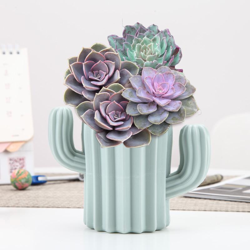 Ваз пластиковая ваза украшения дома европейский анти керамический кактус свадьба небьющийся творческий держатель ручки