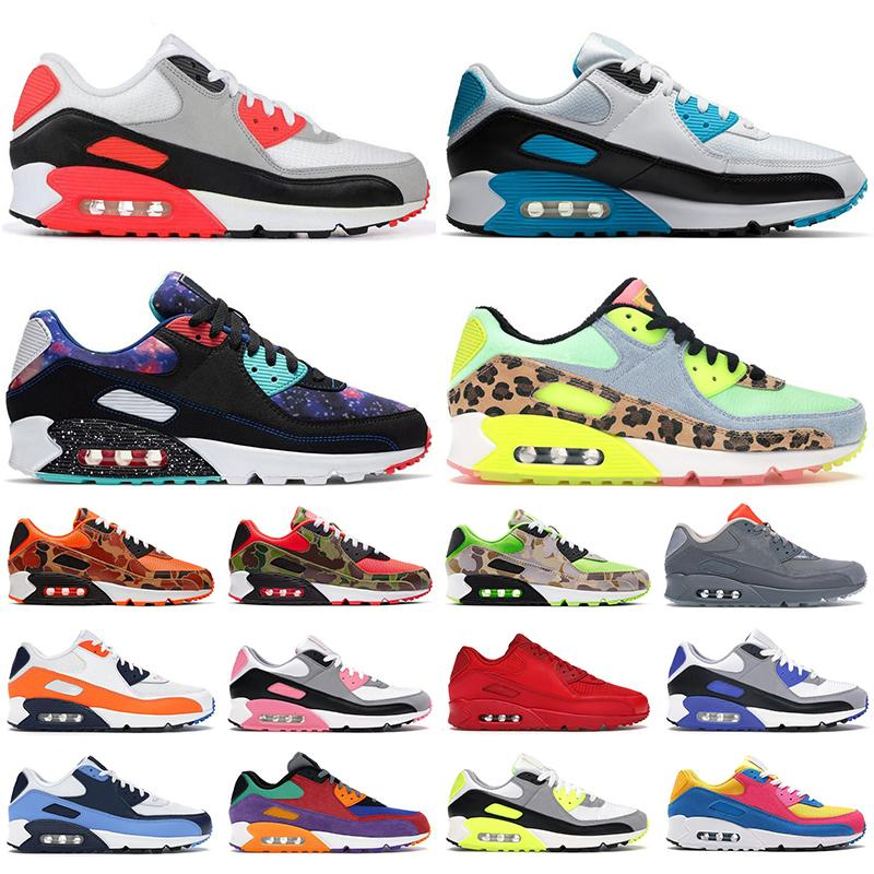 nike air max 90 erkek kadın koşu ayakkabıları Ters Ördek Camo üçlü siyah beyaz VE kızılötesi Serin Gri UNC yenilmez erkek eğitmenler spor sneakers