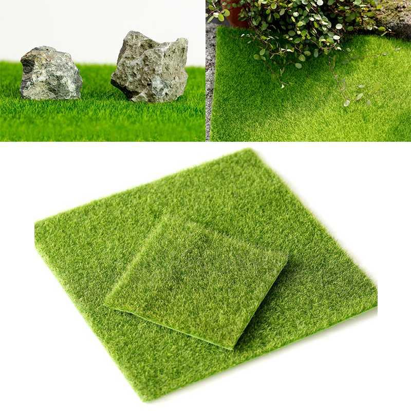 10Pcs DIY Artificial Simulation Green lawn micro bryophyte turf for Garden Home Wall Floor Wedding Decoration