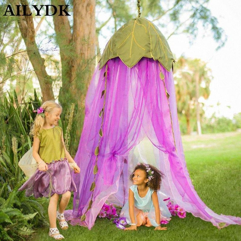 Embroidery Leaf Baby Mosquito Net Canopy Bed Net 5 Layer Mesh Baby Crib Canopy Cute Kids Girls Room Decoration For Curtuns VeaL#