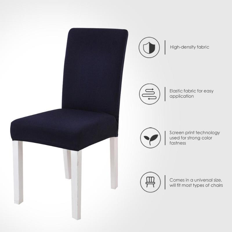 Chair Covers Spandex Solid Color Desk Seat Protector Seat Slipcovers for Hotel Banquet Wedding Universal Size 1PC