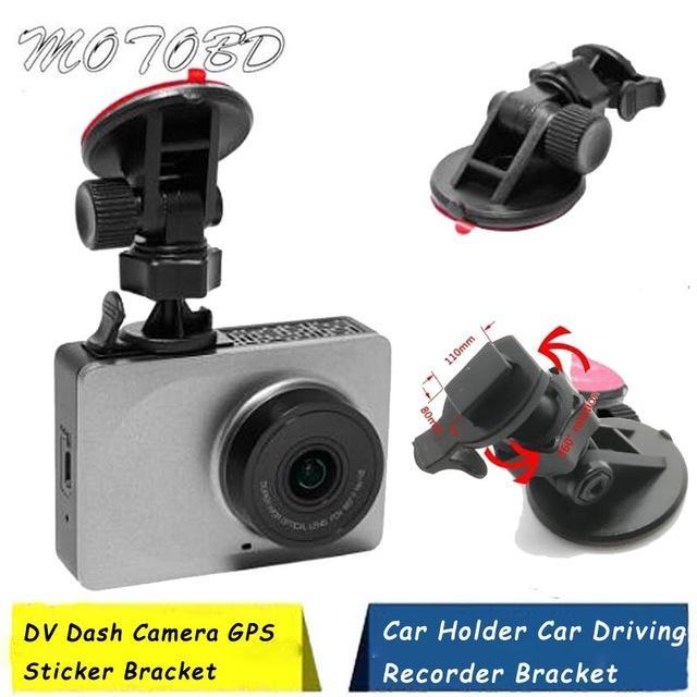 Los titulares montajes DVR Muy fuerte soporte de la cámara 3M adhesivo para Yi cámara de la rociada del sostenedor del coche Dash Cam Soporte de montaje