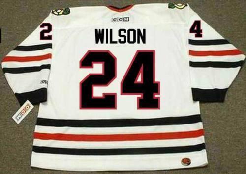 DOUG WILSON Chicago Blackhawks 1988 CCM Girare Back Home Hockey Jersey Tutto cucito di altissima qualità su misura qualsiasi nome qualsiasi numero