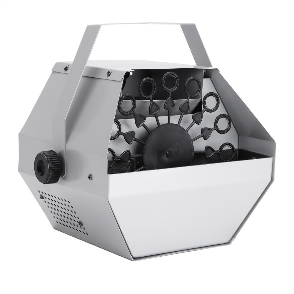 실버 버블 EFFEC 발전기 30W 자동 미니 버블 메이커 기계 자동 송풍기 웨딩 / 바 / 파티 / 무대 쇼