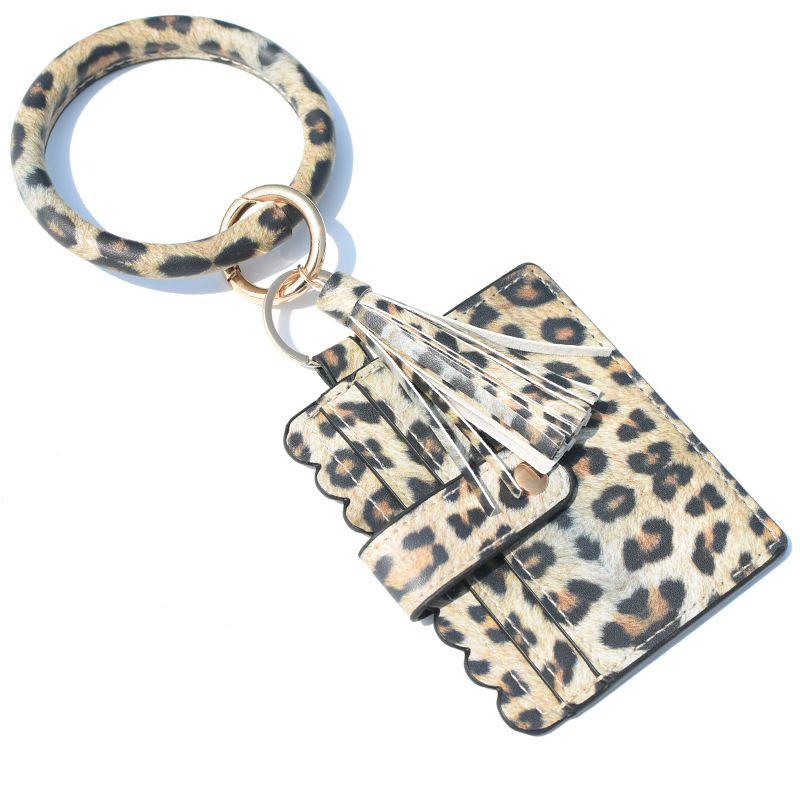 12styles Bracelet bourse Trousseau femmes Glands Bracelets PU gainé de cuir Porte-clés Bangle Porte-Monnaie Carte bracelets Porte-Sac GGA3634-7