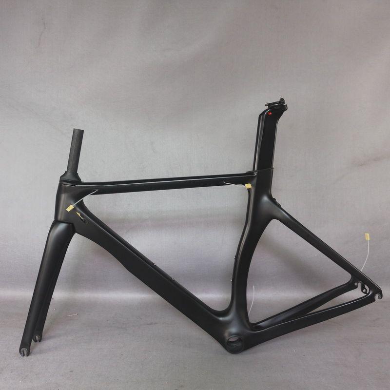 Nouveau moins cher OEM Aero Route Vélo Fibre de carbone Cadre Vélo Cycle Cycle Super Light Cadreset T700 Noir Matte TT-X2