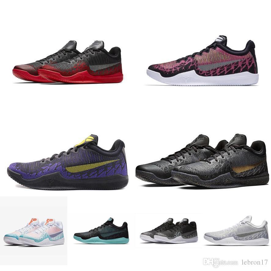Rétro hommes Bryants ZK mamba chaussures de basket-ball de rage nouvelle Lakers jaune Or Violet Vert Rose Multicolore James lebron 17 chaussures de sport tennis avec boîte