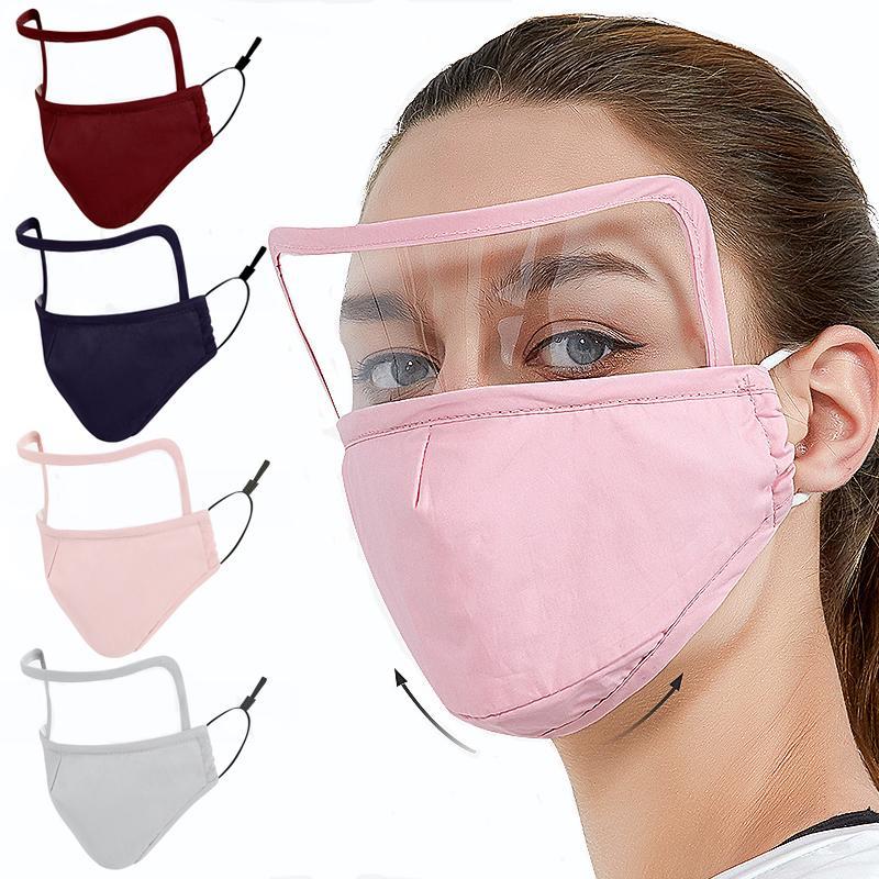 DHL 2 in 1 Visiera con maschere Valve Anti Polvere Unisex Ciclismo Protezione Anti Fog riutilizzabile lavabile Bocca 5 colori AHF823