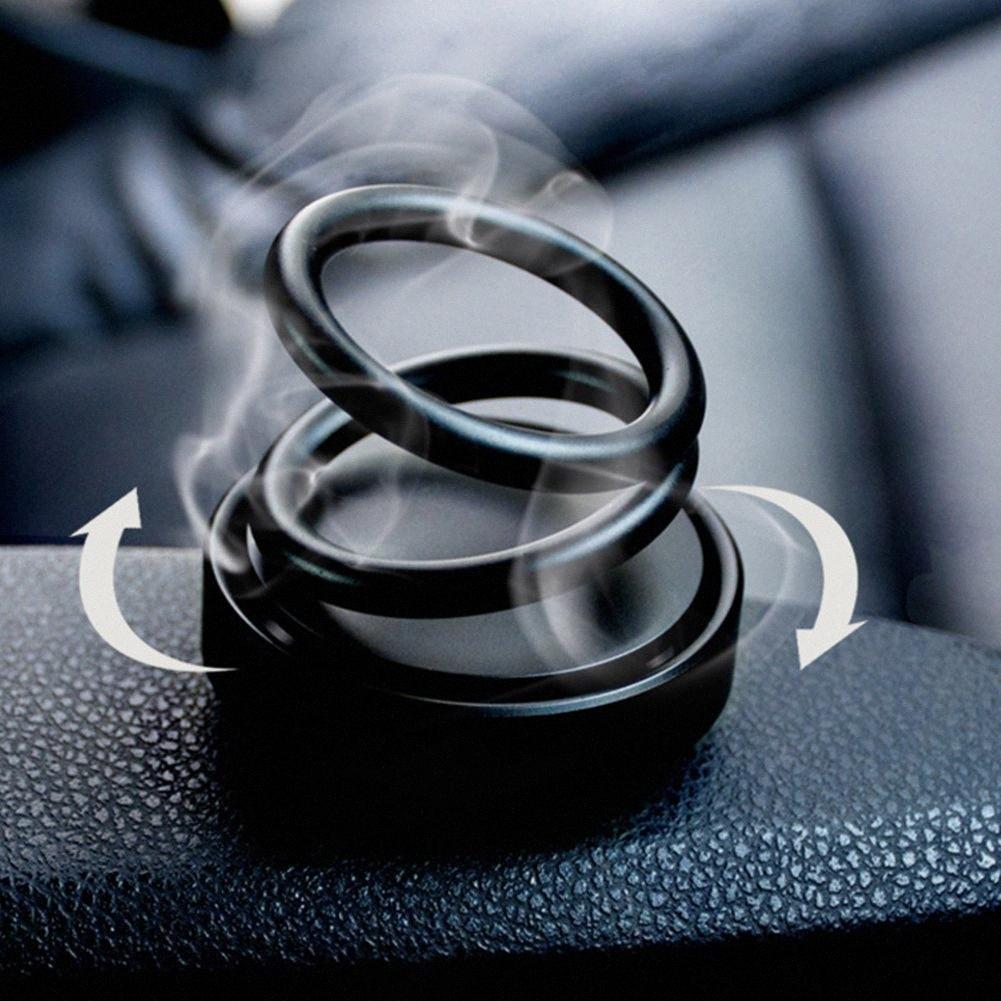 Bevanda rinfrescante di doppio anello unico caso Sapore fragranza di caso purificatore d'aria magnetico rotante casa Profumo fresco Mist HFyy #
