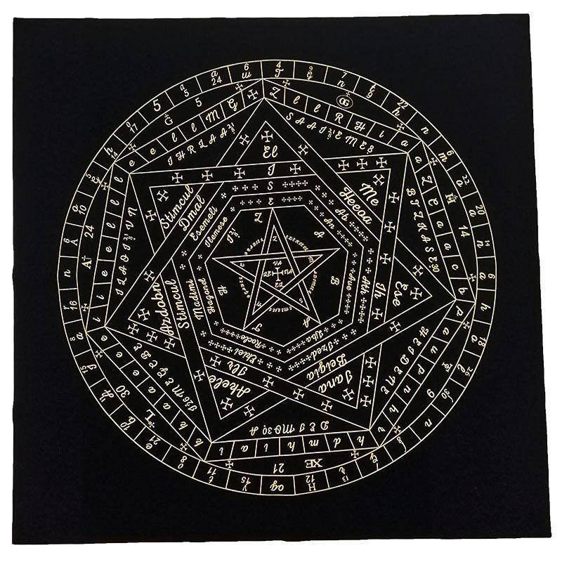 Estilos New Tarot Toalha Adivinhação Wicca Velveteen Tapestry Doze Vintage Constellations astrológico flanela Variedade de pano