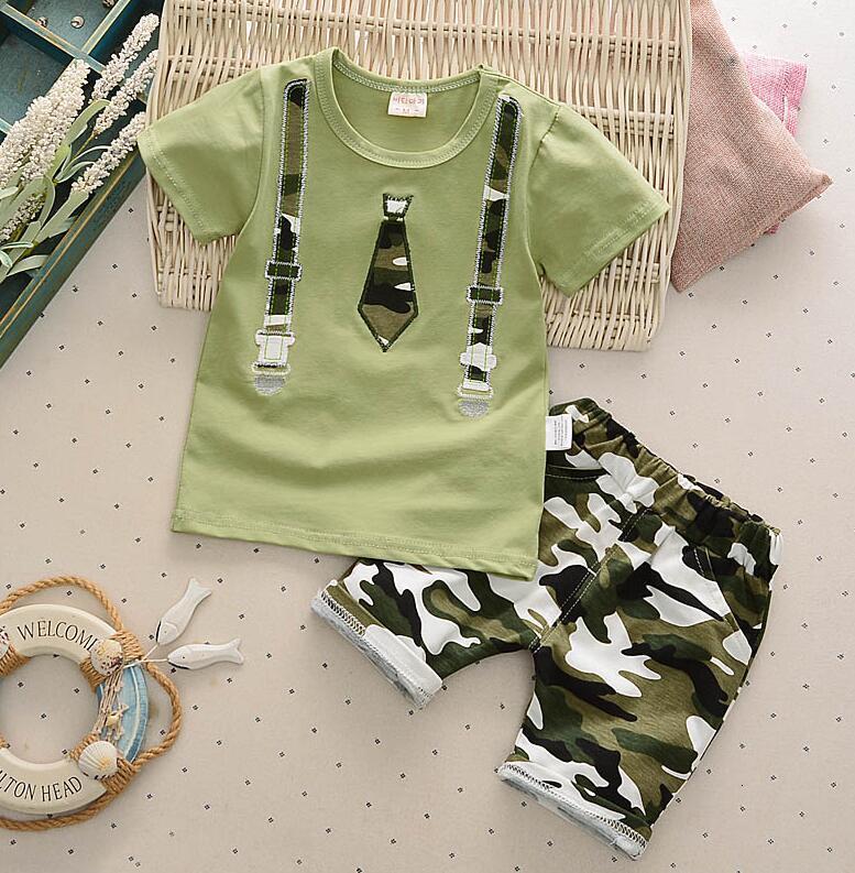 Лето Новой Детская одежда Комплекты хлопок малыши короткий рукав футболка + шорты Спорт костюма для Bebe Boy для новорожденных бегом Костюмов
