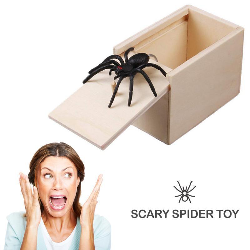 Brincadeiras Home Office Presentes Halloween Fun Aranha Prank Brinquedos Truque Scare Toy Box Gag Aranha rato Presente engraçado Festival Crianças