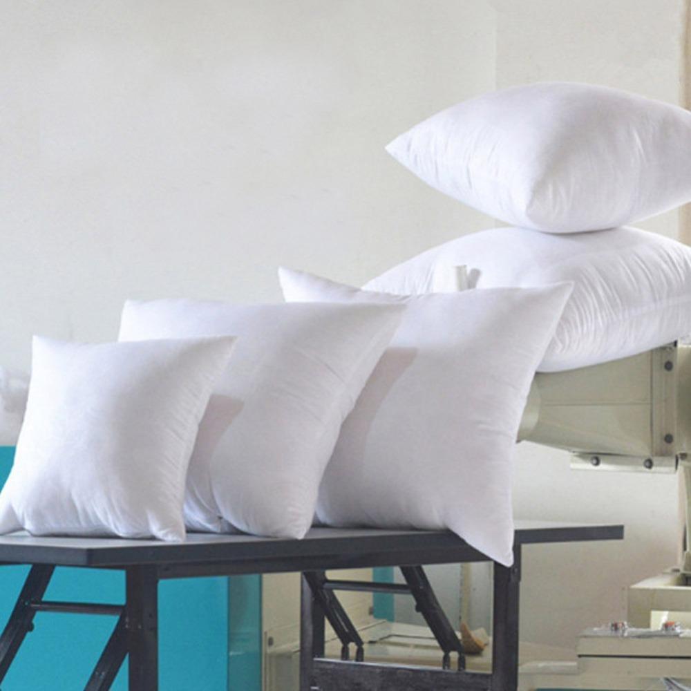 Coussin blanc Adoucir pour voiture Sofa Chaise Bas Alternative Throw Coussin Oreiller Noyau intérieur Remplissage 45cm Nonwovens Tissu T200820