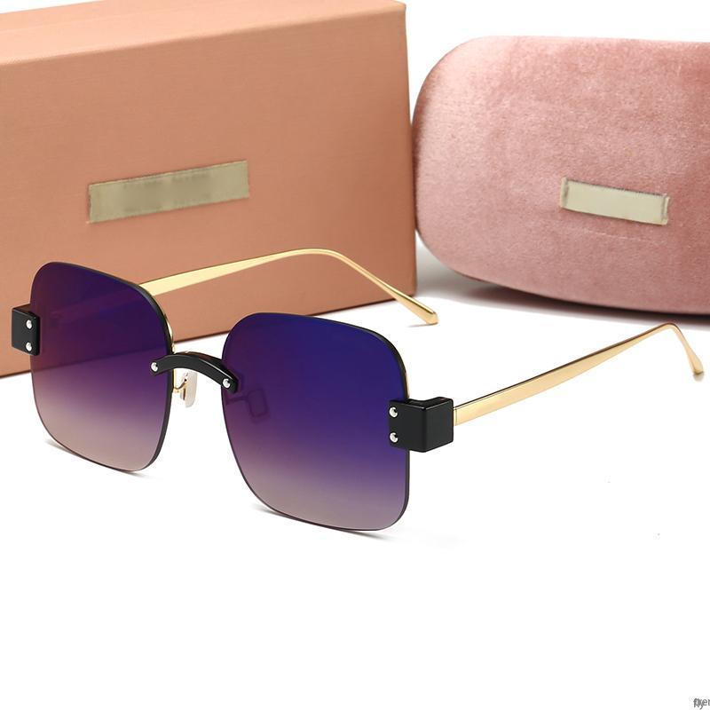 MIUMIU Occhiali da sole pilota Donne progettista uomini di lusso specchio Sunglass V Oversize Cancella Femminile 2020 vetro di Sun degli occhiali femminile Flat Top