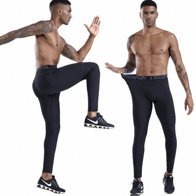 esecuzione collant sport leggings pantaloni di compressione mens asciutto rapido magre da jogging pantaloni palestra pantaloni di formazione di yoga battuta T2j7 #