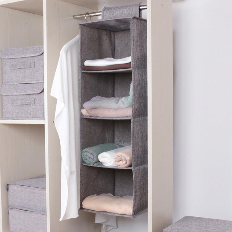 Closet Cabinet Cotton and linen Organizer Hanging Pocket Clothes Storage Clothing Home Organization Accessories Supplies T200818